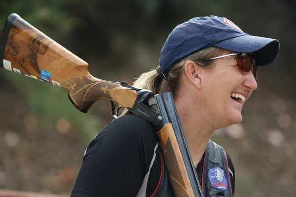 Kim Rhode, shown in April, hit 99 of 100 targets to win the gold.