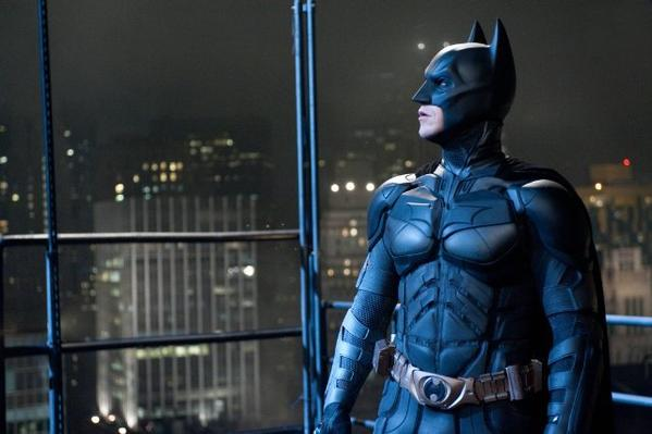 "Christian Bale stars as Batman in ""The Dark Knight Rises."""