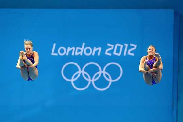 Abby Johnston, left, and Kelci Bryant of the United States.