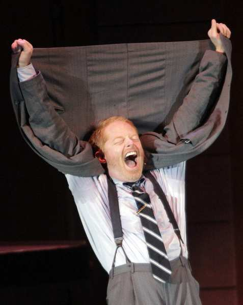 "Jesse Tyler Ferguson is the mild-mannered accountant Leo Bloom in the Bowl's ""The Producers."""