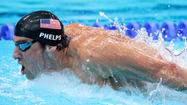 Michael Phelps will swim the second leg of tonight's 400-meter freestyle relay, with Ryan Lochte anchoring the always exciting race in which the U.S. faces stiff competition from the Australian team.