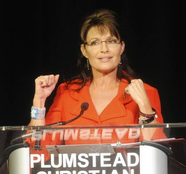 Sarah Palin during 2010 visit to Bucks County.