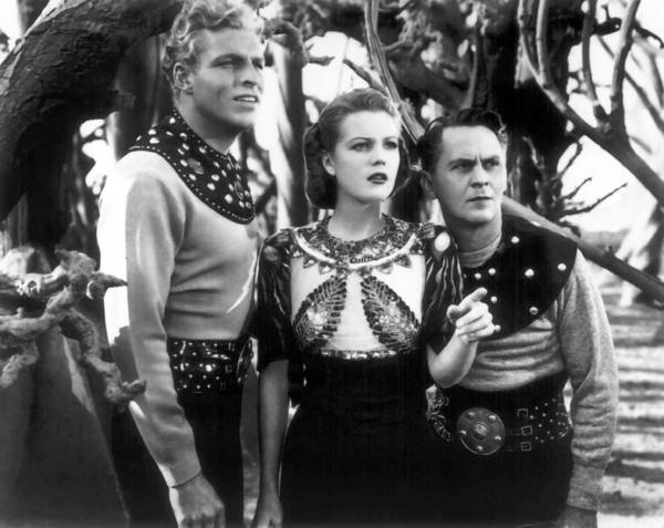 "The 1930s movie serial ""Flash Gordon,"" with Buster Crabbe, left."