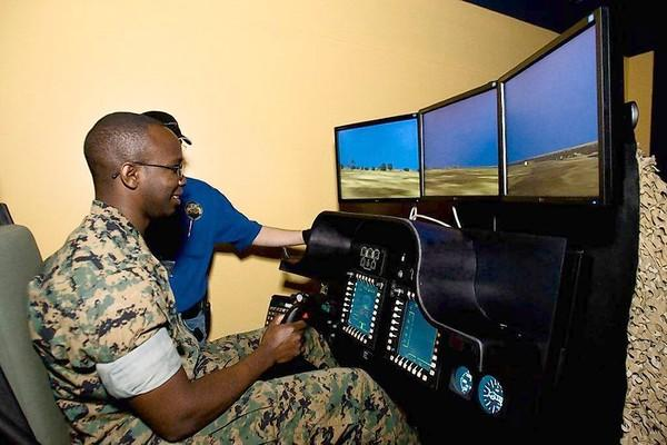 Military simulations are among the uses of technology displayed for hands-on experiences at Otronicon. Visitors will also see how tech works at theme parks, medical faciilties, broadcasting and other entertainment outlets.