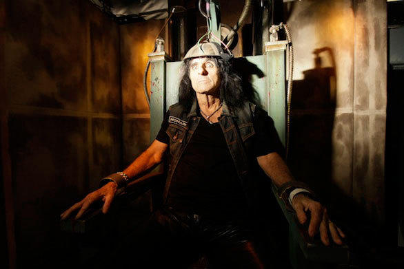 Returning from last year with an updated storyline, the Alice Cooper 3-D maze at Halloween Horror Nights 2012 will feature themes of unending darkness, eternal torment and unimaginable horrors inspired by the album.