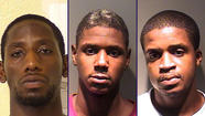 "Police promptly nabbed a trio of Chicago men who ambushed and beat a man while trying to rob him on a North Side ""L"" platform early Saturday morning, prosecutors said."