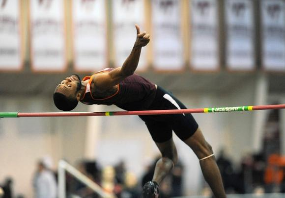 Virginia Tech high jumper Ronnie Black has set school records.