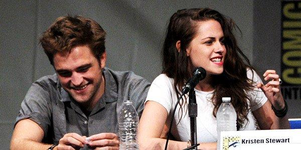 Robert Pattinson and Kristen Stewart at Comic-Con International 2012 at San Diego Convention Center on July 12, 2012.