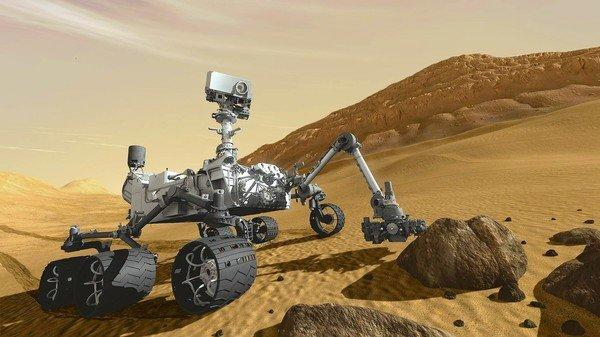 An artist's rendering of NASA's Curiosity. The rover is scheduled to land on Mars on Aug. 5. Some question whether Mars exploration projects are worth the expense.