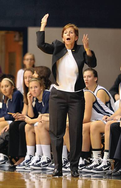 Mary Beth Spirk replaced Anne Sinnett-Skutches in as Moravian College's women's basketball coach in 1987.