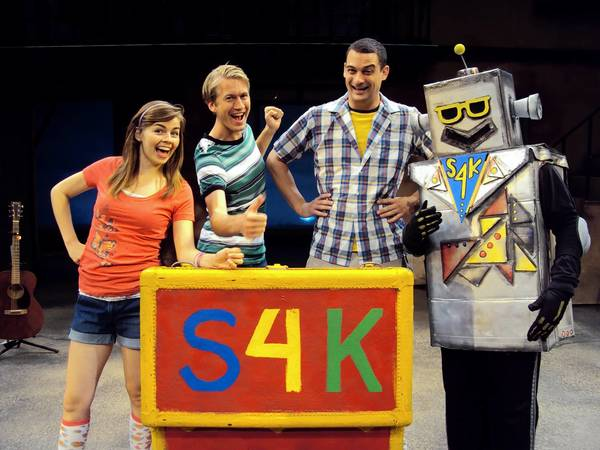 'Shakespeare for Kids' at the Pennsylvania Shakespeare Festival features (from left) Emiley Kiser, Brandon Meeks, Andrew Kane and Leo Bond as Shobot.