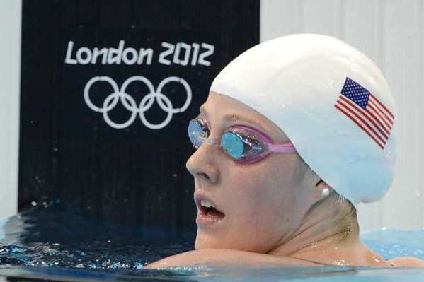 Missy Franklin after completing one of her qualifying heats on Monday.