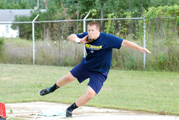 Petoskey freshman-to-be Tommy Roush placed fifth in the shot put last week at the U.S. Junior Olympics in Baltimore. Roush's throw was 51 feet, 3 inches.