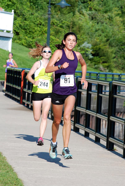 Kathryn Fluehr of Naples, Fla. was the women's overall winner at the Jeff Drenth Memorial 5K Foot Race Saturday in Charlevoix. Fluehr finished in 17 minutes, 25 seconds.