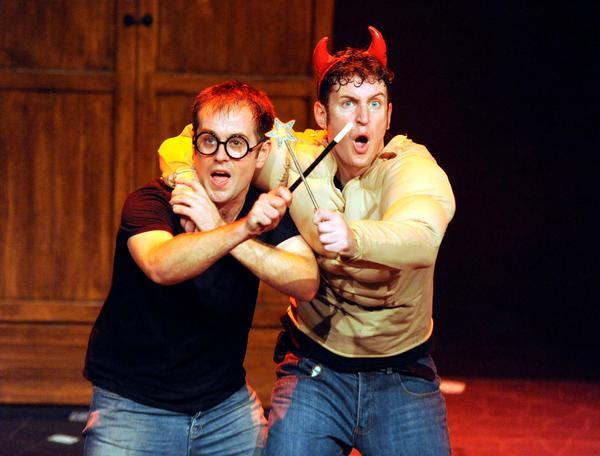 "Daniel Clarkson and Jefferson Turner in ""Potted Potter."""