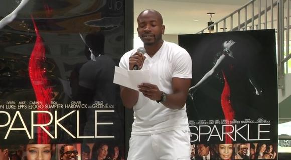 "Quinten White performing ""Celebrate"" for the ""Sparkle"" Singing Challenge"