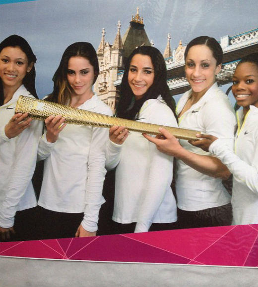 London 2012: Stunning mobile uploads from the Summer Olympics: Holding the Olympic torch with my team!!! --@McKaylaMaroney