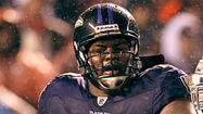 Ravens left tackle <strong>Bryant McKinnie</strong> has reported to training camp and is off the did not report/restricted list, but he's still not practicing.