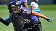 Ravens tight end Dennis Pitta could miss the rest of training camp and is now a question mark for the Sept. 10 season opener after he suffered what appears to be a broken hand in Monday's practice.