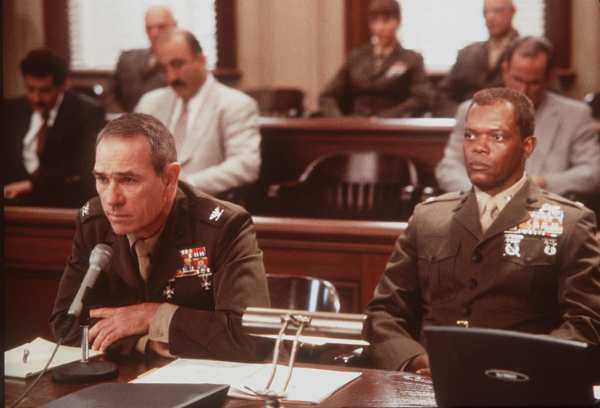 "Tommy Lee Jones, left, and Samuel L. Jackson in 2000's ""Rules of Engagement."""
