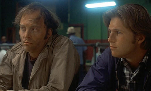 "Stacy Keach and Jeff Bridges in ""Fat City."""