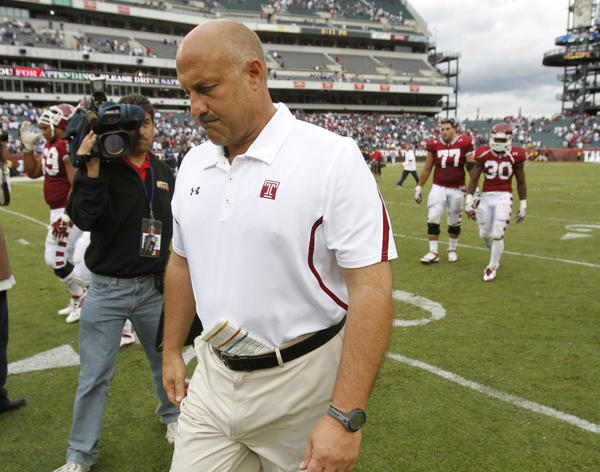 Cheshire's Steve Addazio leads Temple into its first Big East season. The Owls were 9-4 and 5-3 in the Mid-American Conference last season.