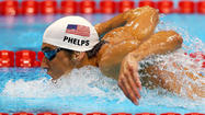The U.S. 4x200 freestyle relay team posted the fastest qualifying time this morning at the Aquatic Centre in London, giving Michael Phelps a chance to break Soviet Union gymnast Larisa Latynina's record for career Olympic medals today.