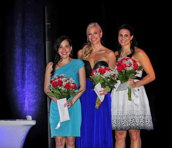 "Andrea Levy, left, Jonna Piira and Kristin Gence at the 22nd annual ""Fort Lauderdale's Finest Gala,"" which took place at the Hilton Fort Lauderdale Marina Hotel and raised more than $75,000 for the Cystic Fibrosis Foundation."