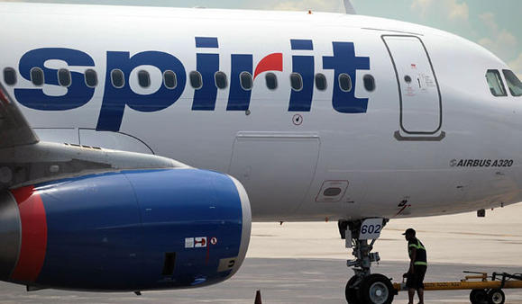 A Spirit Airlines plane in Florida in 2011. Joe Raedle/Getty Images