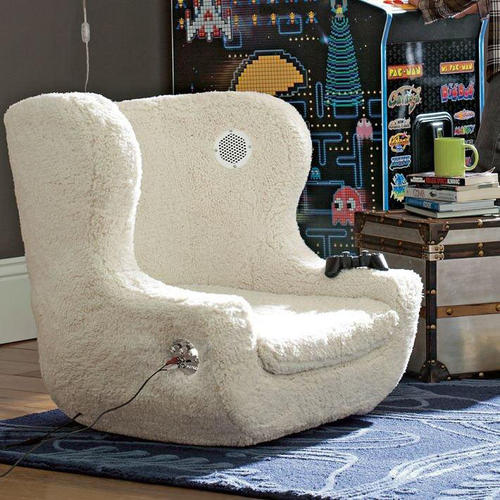 Rock on with this iPod-ready chair with vibration controls from PB Teen, $599.