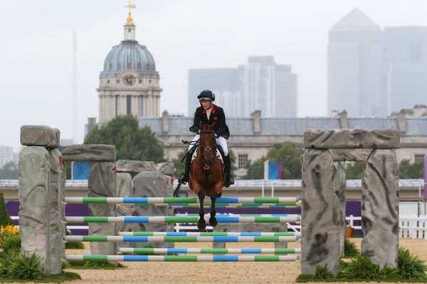 Zara Phillips of Great Britain rides High Kingdom  in the jumping final of the individual eventing competition.  Queen Elizabeth's granddaughter finished eighth in individual eventing and won silver in team eventing.