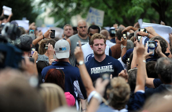 Pictures from Penn State Rise and Rally event in support of the Nittany Lion football players in State College, Pennsylvania, on Tuesday, July 31, 2012.