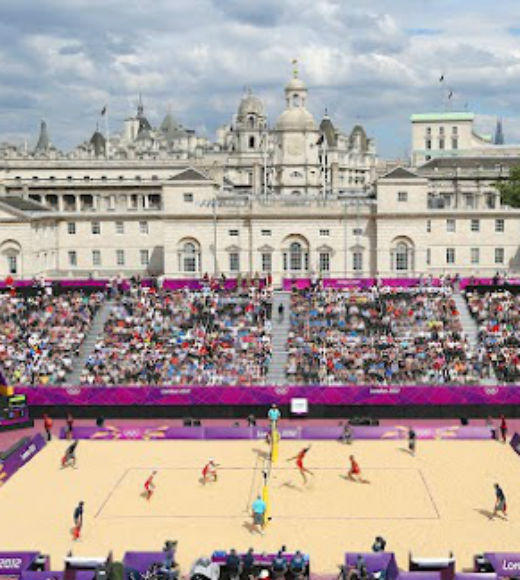 London 2012: Stunning mobile uploads from the Summer Olympics: Simply put, the beach volleyball venue at the Olympics looks incredible --@espn