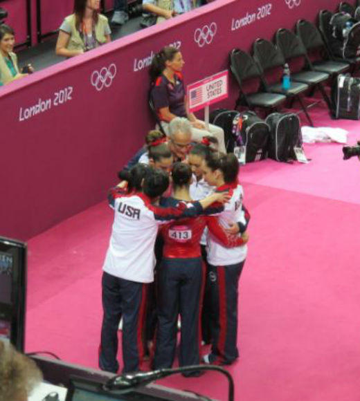 London 2012: Stunning mobile uploads from the Summer Olympics: With ONE rotation remaining, the #FabFive is in first place in womens team gymnastics final. We are one team, #TeamUSA --@USOlympic