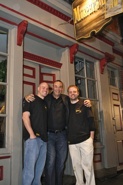 Jon Taffer (center) with former J.A. Murphy's owners Joel Gallant and Keith Murphy after the show.