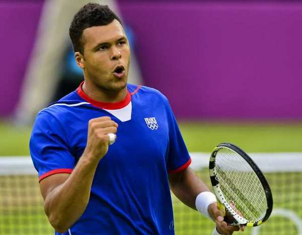 It took a while, but Jo-Wilfred Tsonga finally won.