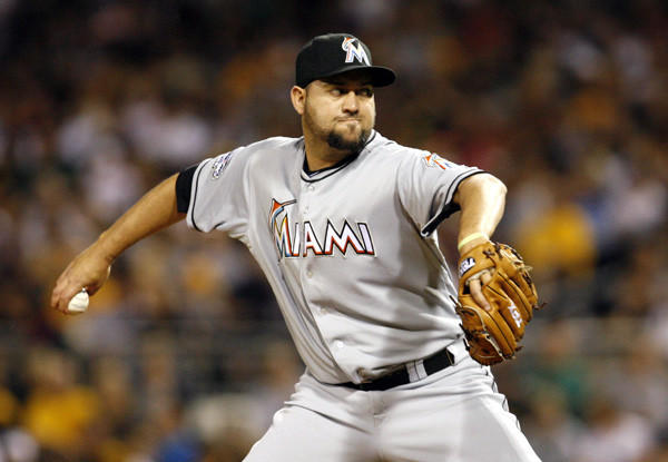 St. Louis got the Marlins reliever in exchange for third baseman Zack Cox.
