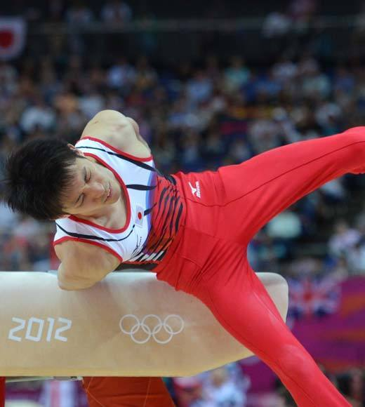 "It looked as though the men's gymnastics team finals went China, Great Britain and Ukraine, after Japan's Uchimura (pictured) got a low pommel horse to knock the Japanese out of medal contention. But the Japanese appealed, saying the judges had erroneously valued the difficulty of his routine. The judges reviewed it, bumped up Uchimura's score by 0.7, and the Japanese took silver. <BR><BR>-- <i><a href=""http://twitter.com/andrealeigh203"">Andrea Reiher</a>, <a href=""http://www.zap2it.com"">Zap2it</a></i>"