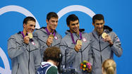 Ryan Lochte , Conor Dwyer , Ricky Berens , Michael Phelps