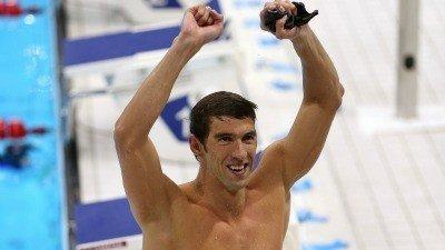 Michael Phelps after winning gold Wednesday