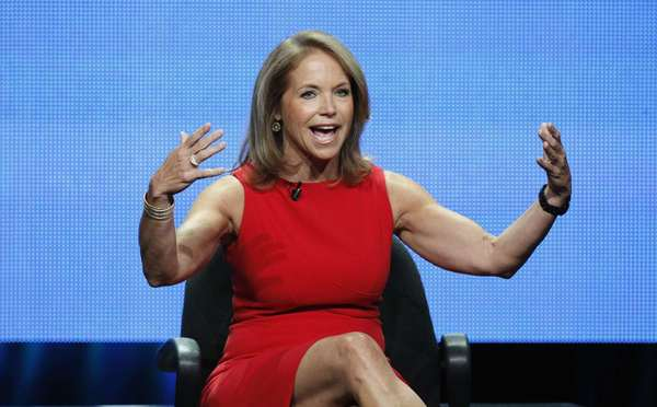 "Katie Courioc promoting her new syndicated talk show ""Katie"""