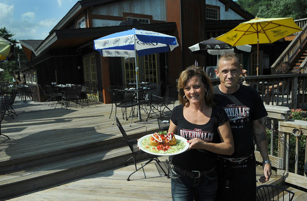 RiverWalck Saloon and Restaurant in Parryville. General Manager Christine Schwarz and Assistant Kitchen Manager Joe Milander.