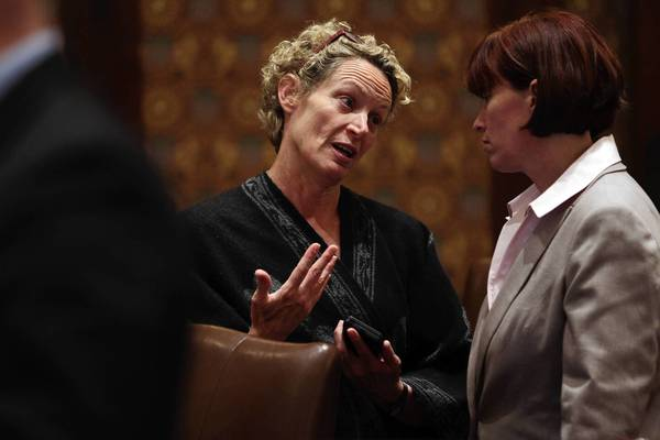 "Rep. Elaine Nekritz, left, a House Democratic point person on pension reform: ""Right now, you have (local school districts) setting wages and benefits and sending the bill to somebody else. That doesn't create the right incentives."""
