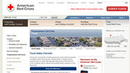 American Red Cross flooding Web site