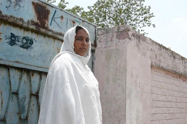 Shehnaz Bibi was dragged from her house, stripped naked and dragged through her Pakistani village square by four men carrying out revenge against her son's actions. The attack was sanctioned by a local jirga, a meeting of tribal elders. She now lives in Haripur, afraid for her safety.