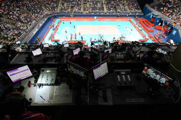 Sunday's Germany-Russia men's volleyball match unfolds at Earls Court during the London Olympic Games. Some fans are frustrated by NBC's decision to tape-delay marquee events in the era of social media.