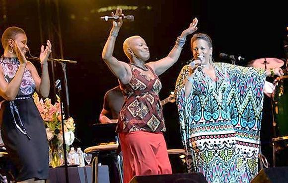 Sing the Truth at 2011 Detroit Jazz Festival (L to R: Lizz Wright, Angelique Kidjo and Dianne Reeves)