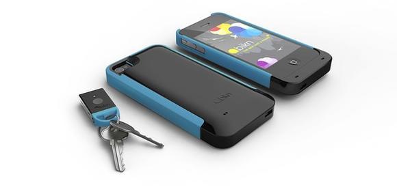BiKN black and blue case with tagged keys