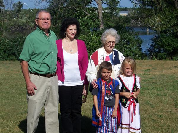 Local residents honored during this years Boyne Falls Polish Festival include (from left) grand marshals, Leon and Janet Jarema, honored citizen Freda Kullik, Little Mister Cameron Matelski and Little Miss Riley Zbacnik.