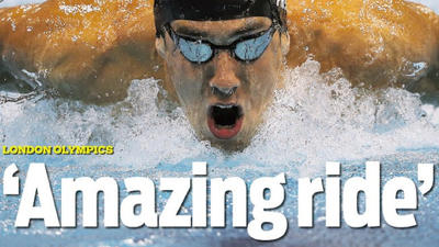 Amazing ride: Michael Phelps stands alone at the top
